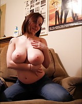 Busty slut shows off her big bust cause they love the dick.