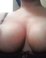 Amateur with huge tits has no shame showing her tits and shes ready to fuck a cock.