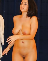 Big boob hoe takes off her clothes and she has the nicest nipples.