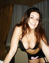 Busty girl has huge suckable breasts and loves flashing them at any opportunity.